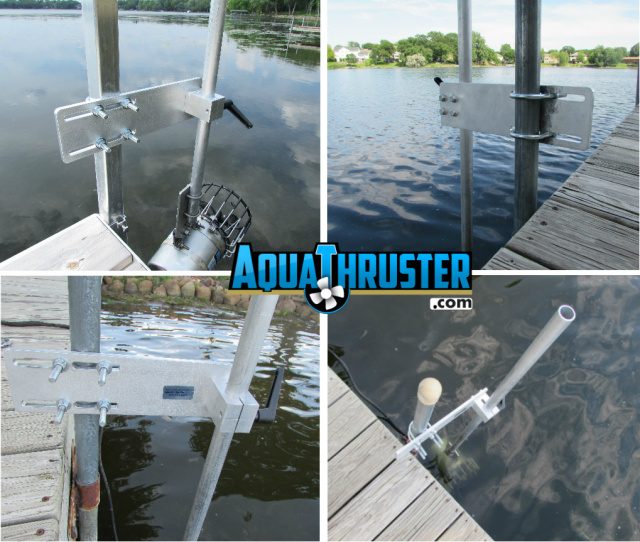 Portable Dock Post mount muck prevention lake weed blower