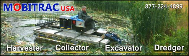 Mobitrac Aquatic Harvester Cutter Excavator Dredger Machine Weeders Digest