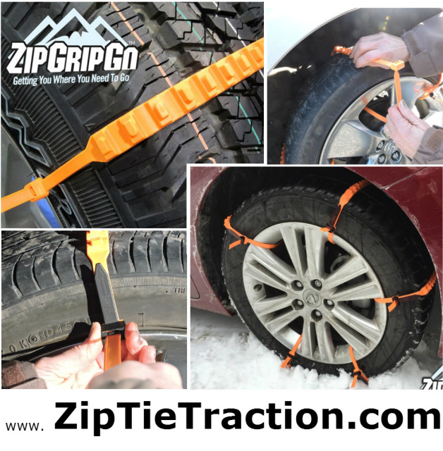 zip grip go cleated tire traction aid for snow stuck winter car